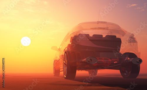 Fotobehang Auto Transparent model cars.