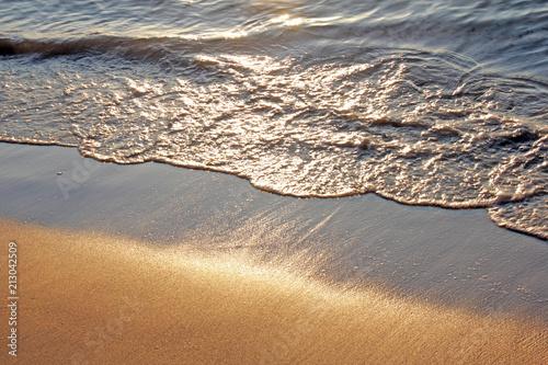 Foto Murales Sandstrand bei Sonnenuntergang