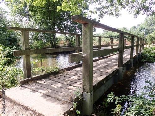 Bridge over the River Chess at Rickmansworth, Hertfordshire, UK - 213045591