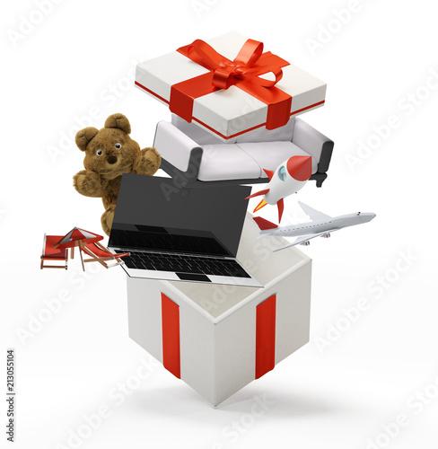 Gift box with ribbon...