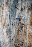 rock free climber kalymnos greece - 213056709