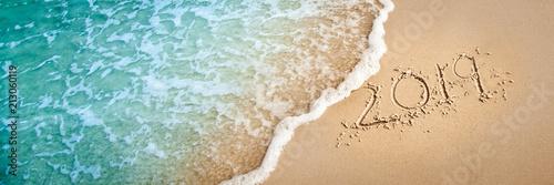 Leinwanddruck Bild 2019 On The Beach