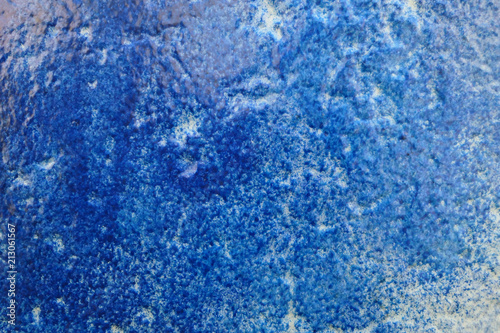 abstract wall background of paintcrush and lines in blue colors. full frame background. - 213061567