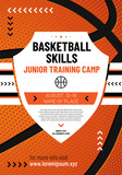 Template for your basketball design with sample text