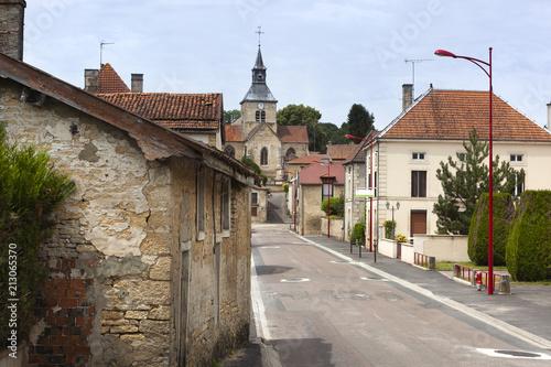 Fototapeta Typical village street in France