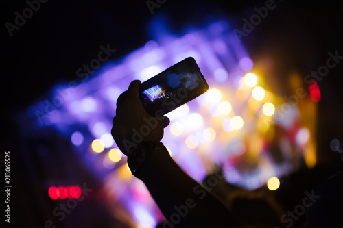 Picture of party people at music festival - 213065525