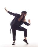 Young beautiful dancer is posing in studio - 213070531