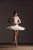 Young beautiful ballerina is posing in studio - 213073158