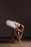 Young beautiful ballerina is posing in studio - 213073324
