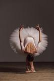 Young beautiful ballerina is posing in studio - 213073341