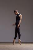 Young beautiful ballerina is posing in studio - 213073710