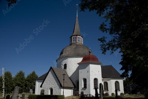 Munsö church from 1100s in Ekerö, Stockholm