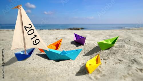 Leinwanddruck Bild Urlaub buchen - verreisen