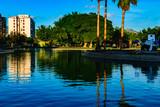 Water view at Huelin Park, Málaga, Spain