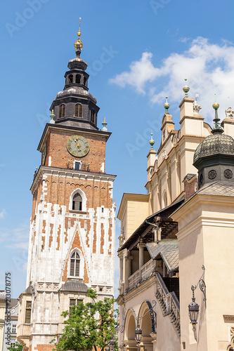 Fototapeta Former City Hall and Cloth Hall (Sukiennice) in Krakow (Poland)