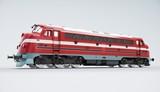 Nostaliga train. Diesel locomotive isolated on white background. 3d rendering