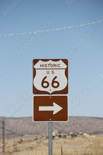 Aluminium Route 66 Signs of old Route 66 – USA