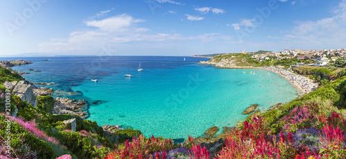 Leinwanddruck Bild Rena Bianca beach, north Sardinia island, Italy