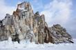 Cape Burkhan (Shaman Rock) on Olkhon Island at Baikal Lake - 213084561