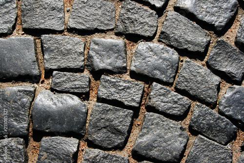 Fotobehang Stenen paving stone cover