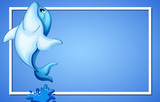 Blue Dolphin Frame Template - 213089382