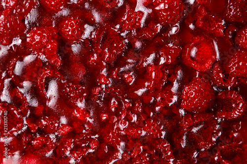 Raspberry jelly cake. Close up texture. - 213101740
