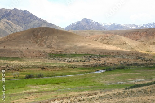 The route of  beautiful scenic from Bishkek  to Naryn city of Kyrgyzstan - 213102145