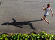 Girl Running Shadow