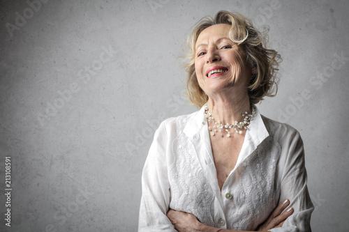Foto Murales Happy grandma