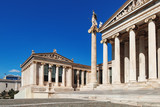 Iconic neoclassic Academy of Athens, Athens historic center in Attica, Greece - 213112537