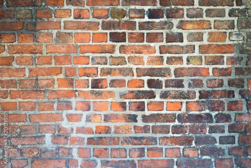 czerwony brązowy ceglany mur tekstury