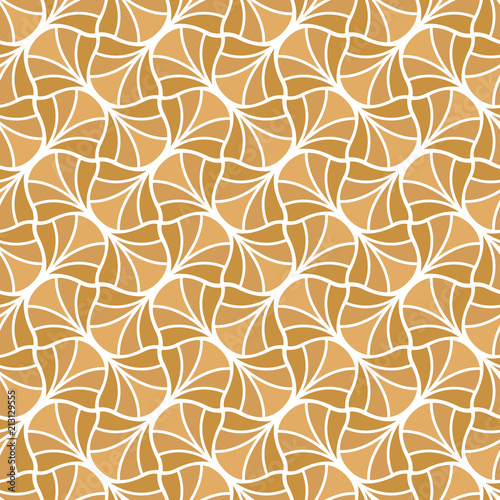 Vector Golden Art Deco Style Seamless Pattern. Abstract Ornament Background.