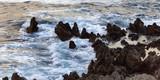 romantische Küste von Sizilien bei Sonnenuntergang - 213138905