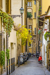 Street of Historic Center of Florence