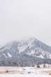 Fog over the Flatirons during winter