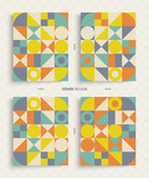 Cover design template for advertising. Abstract colorful geometric design. Pattern can be used as a template for brochure, annual report, magazine, poster, presentation, flyer and banner. - 213170971