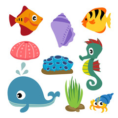 marine life vector collection design