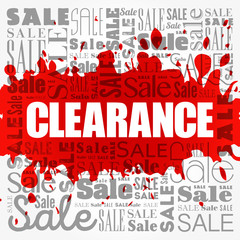 Clearance sale word cloud collage, business concept background