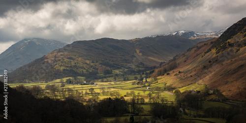 Foto Spatwand Chocoladebruin Uk Lake District