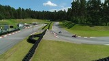 Aerial Go Kart Racing Track. Sunny Summer Day Karting Competition. - 213185102