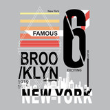 new york brooklyn typography t shirt vector - 213189127