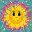 Obrazek z wesołym słońcem