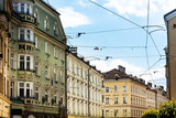 Antique building view in Old Town Innsbruck, Austria - 213201139