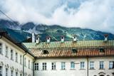 Antique building view in Old Town Innsbruck, Austria - 213201144