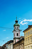 Antique building view in Old Town Innsbruck, Austria - 213201157