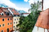 Antique building view in Old Town Innsbruck, Austria - 213201171