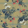 Seamless vector floral pattern with wild flowers - 213202956