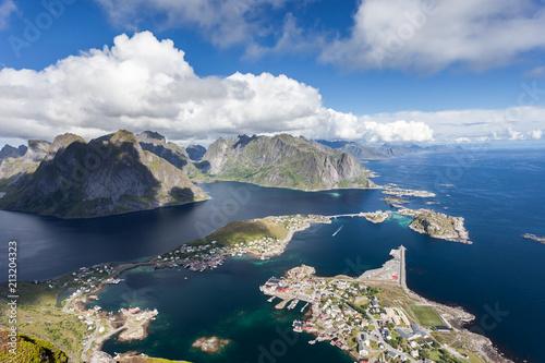 Fotobehang Nachtblauw Lofoten Norway Scandinavia