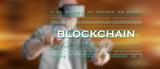 Man touching a blockchain concept - 213214165