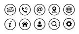 Web Kontakt Symbole - 213215156